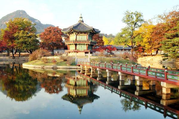 Một góc mùa thu ở Seoul