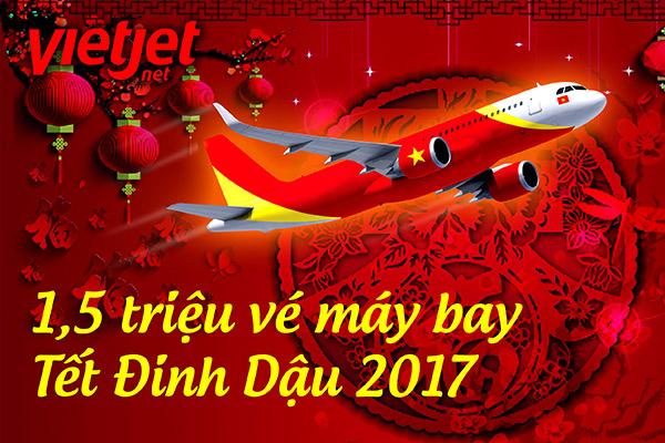 một triệu rưỡi vé tàu bay tết Đinh Dậu 2017