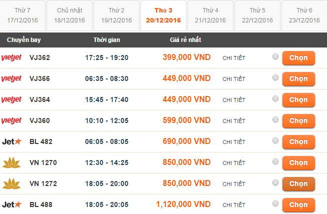 Bảng giá vé máy bay Sài Gòn đi Thanh Hóa