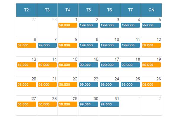 Bảng giá vé máy bay khuyến mãi đi Nha Trang tháng 3