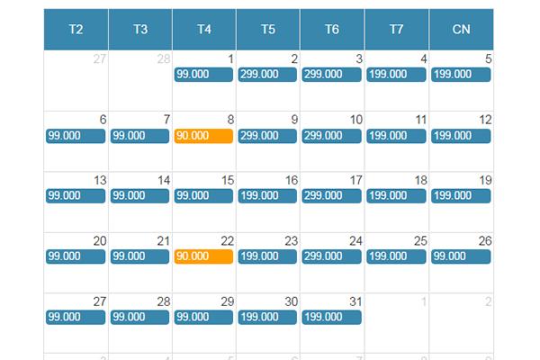 Bảng giá vé máy bay giá rẻ Sài Gòn đi Nha Trang tháng 3