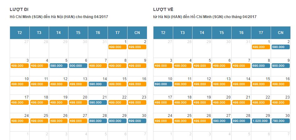 Bảng giá vé máy bay giá rẻ đi Tuy Hòa tháng 4