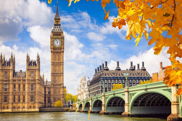 London Vé máy bay đi Anh