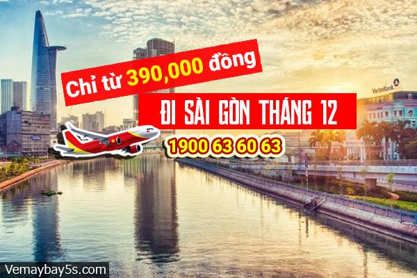 Vé máy bay đi Sài Gòn tháng 12